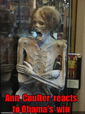 Ann  Coulter  reacts  to Obama's  win