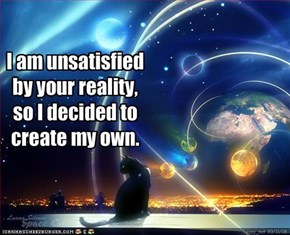 I am unsatisfied by your reality,