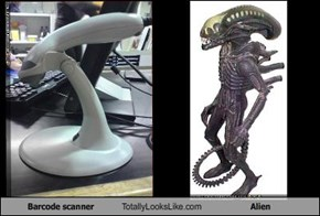 Barcode scanner Totally Looks Like Alien