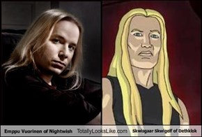 Emppu Vuorinen of Nightwish Totally Looks Like Skwisgaar Skwigelf of Dethklok
