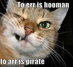 To err is hooman  to arr is pirate