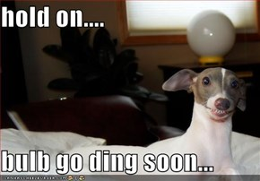hold on....  bulb go ding soon...