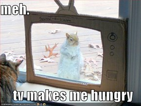 meh.  tv makes me hungry