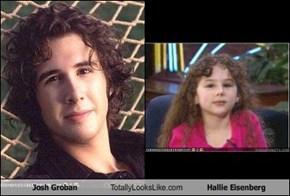 Josh Groban Totally Looks Like Hallie Eisenberg