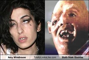 Amy Winehouse Totally Looks Like Sloth from Goonies