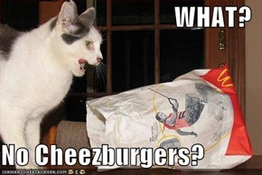 WHAT?  No Cheezburgers?