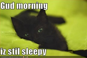 Gud morning  iz stil sleepy