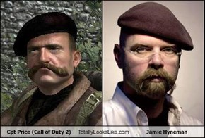 Cpt Price (Call of Duty 2) Totally Looks Like Jamie Hyneman