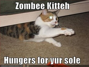 Zombee Kitteh  Hungers for yur sole