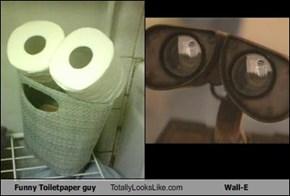 Funny Toiletpaper guy Totally Looks Like Wall-E