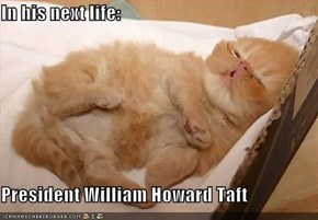 In his next life:  President William Howard Taft