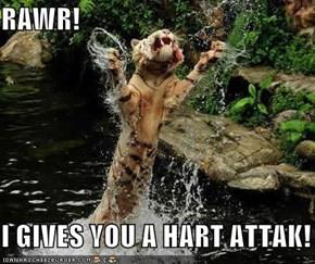 RAWR!  I GIVES YOU A HART ATTAK!