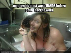 employees must wash HANDS before going back to work