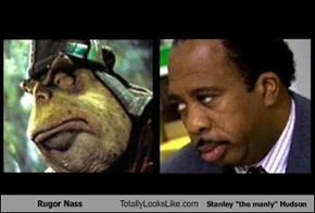 "Rugor Nass Totally Looks Like Stanley ""the manly"" Hudson"