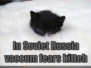 In Soviet Russiavaccum fears kitteh