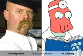 Jamie Hyneman Totally Looks Like Dr Zoidberg