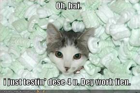 Oh, hai.  i just testin' dese 4 u. Dey work fien.