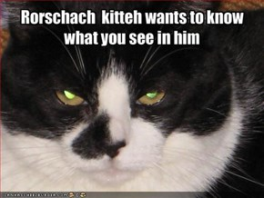Rorschach  kitteh wants to knowwhat you see in him