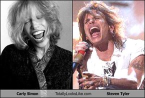 Carly Simon Totally Looks Like Steven Tyler