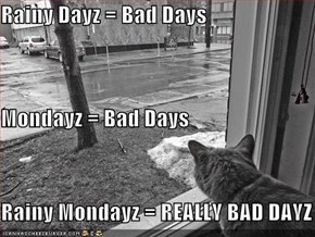 Rainy Dayz = Bad Days Mondayz = Bad Days Rainy Mondayz = REALLY BAD DAYZ