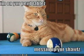 im on yur pewl tablez  messin up yur shawtz.