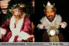 Ghost of Christmas Present Totally Looks Like The Burger King