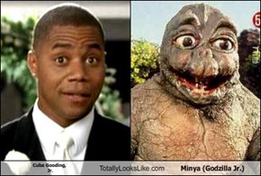 Cuba Gooding,  Jr. Totally Looks Like Minya (Godzilla Jr.)