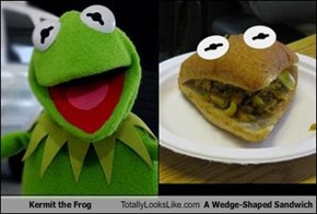 Kermit the Frog Totally Looks Like A Wedge-Shaped Sandwich