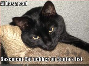 Ai has a sad  Basement Cat nebber on Santa's list