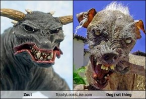 Zuul Totally Looks Like Dog/rat thing