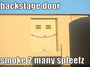 backstage door  smoke 2 many spleefz