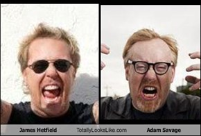 James Hetfield Totally Looks Like Adam Savage