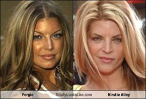 Fergie Totally Looks Like Kirstie Alley