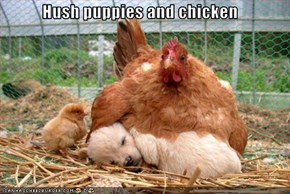 Hush puppies and chicken