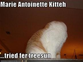 Marie Antoinette Kitteh  ...tried fer treesun