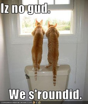 Iz no gud.  We s'roundid.