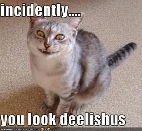 incidently....  you look deelishus