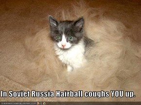 In Soviet Russia Hairball coughs YOU up.