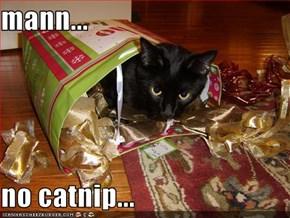 mann...  no catnip...