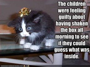 The children were feeling guilty about