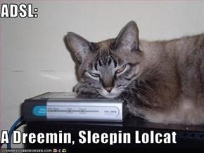 ADSL:  A Dreemin, Sleepin Lolcat