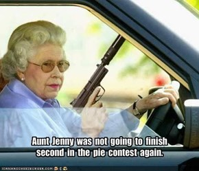 Aunt  Jenny  was  not  going  to  finish  second  in  the  pie  contest  again.