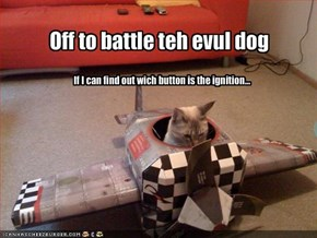 Off to battle teh evul dog