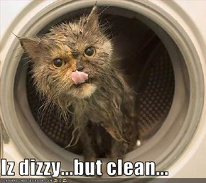Iz dizzy...but clean...