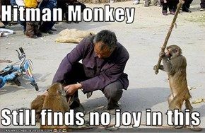 Hitman Monkey  Still finds no joy in this