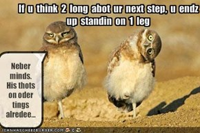 If  u  think  2  long  abot  ur  next  step,  u  endz 