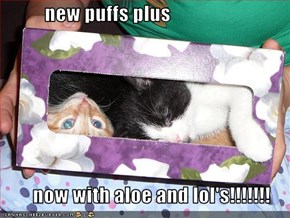 new puffs plus          now with aloe and lol's!!!!!!!