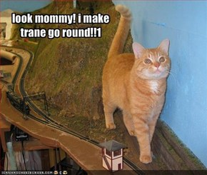 look mommy! i make trane go round!!1