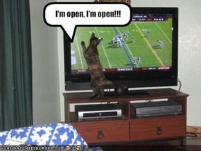I'm open, I'm open!!!
