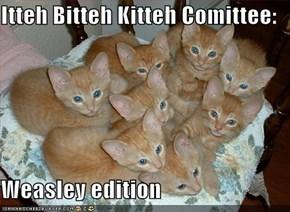 Itteh Bitteh Kitteh Comittee:  Weasley edition